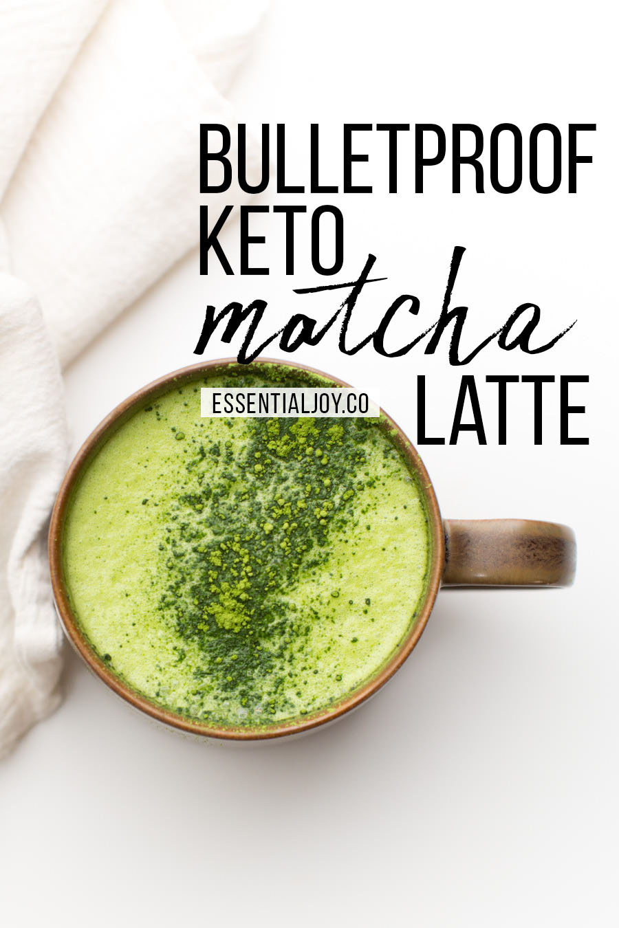 Bulletproof Keto Matcha Green Tea Latte Recipe